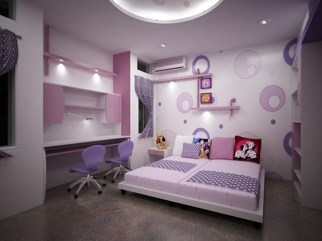 Purple Bedroom decor