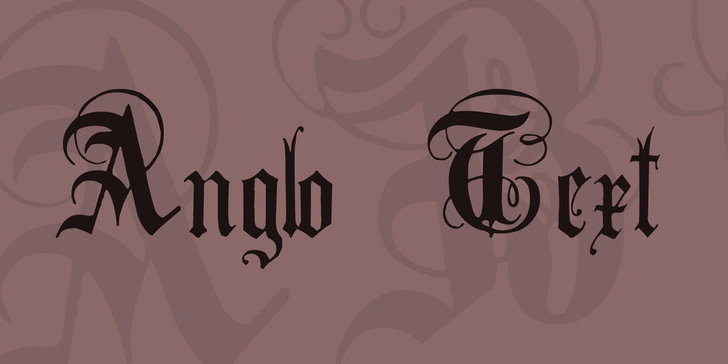 curly blackletter font style