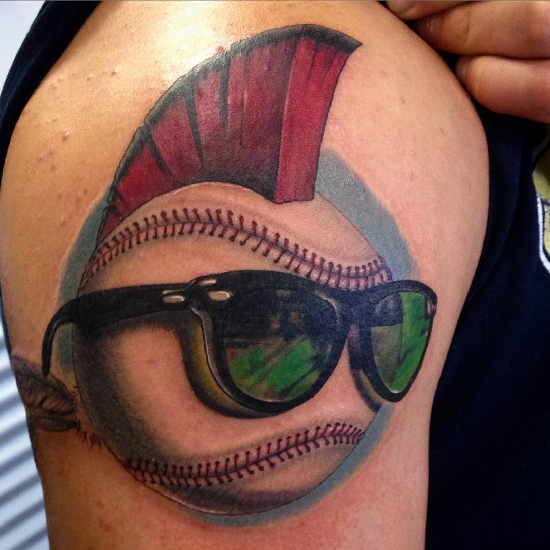 Colorful - Baseball Tattoo