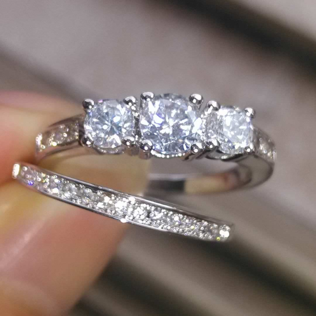 Trendy Silver Rings For Engagement