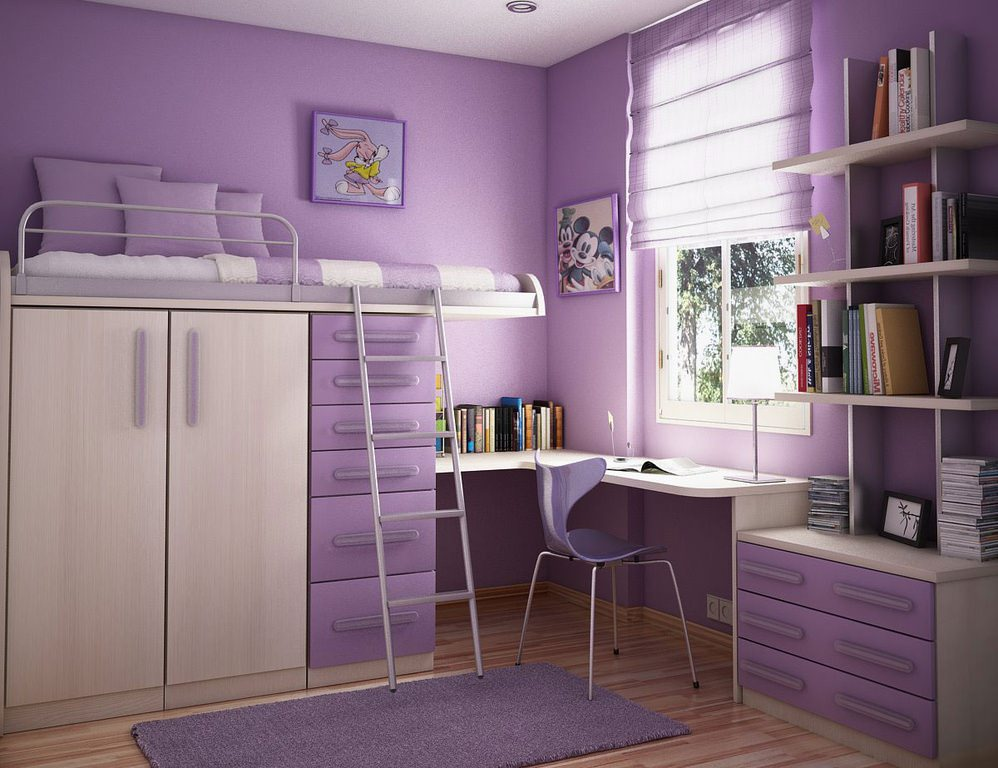 Purple Bedroom Accesories