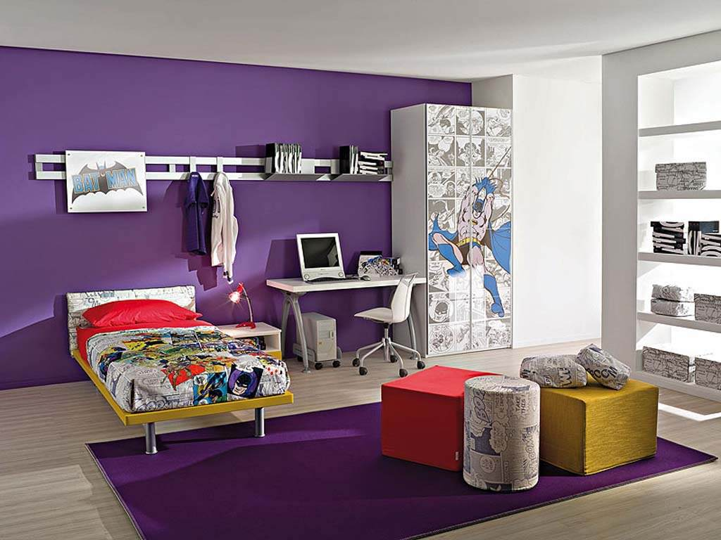 Dark Purple Kids Bedroom Ideas