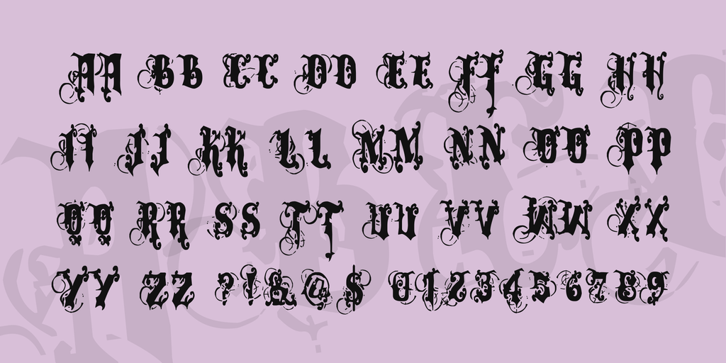 Fancy Blackletter Font
