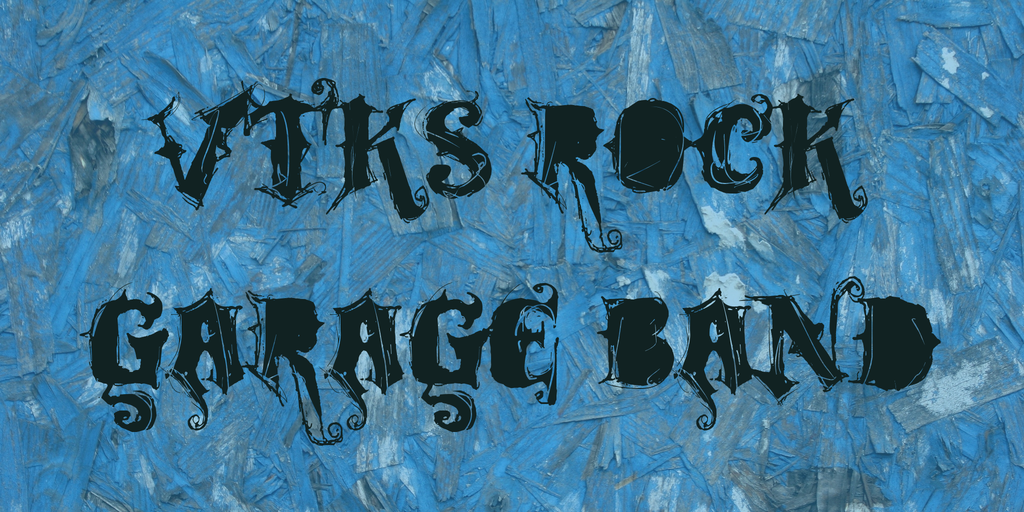 rock roll blackletter font