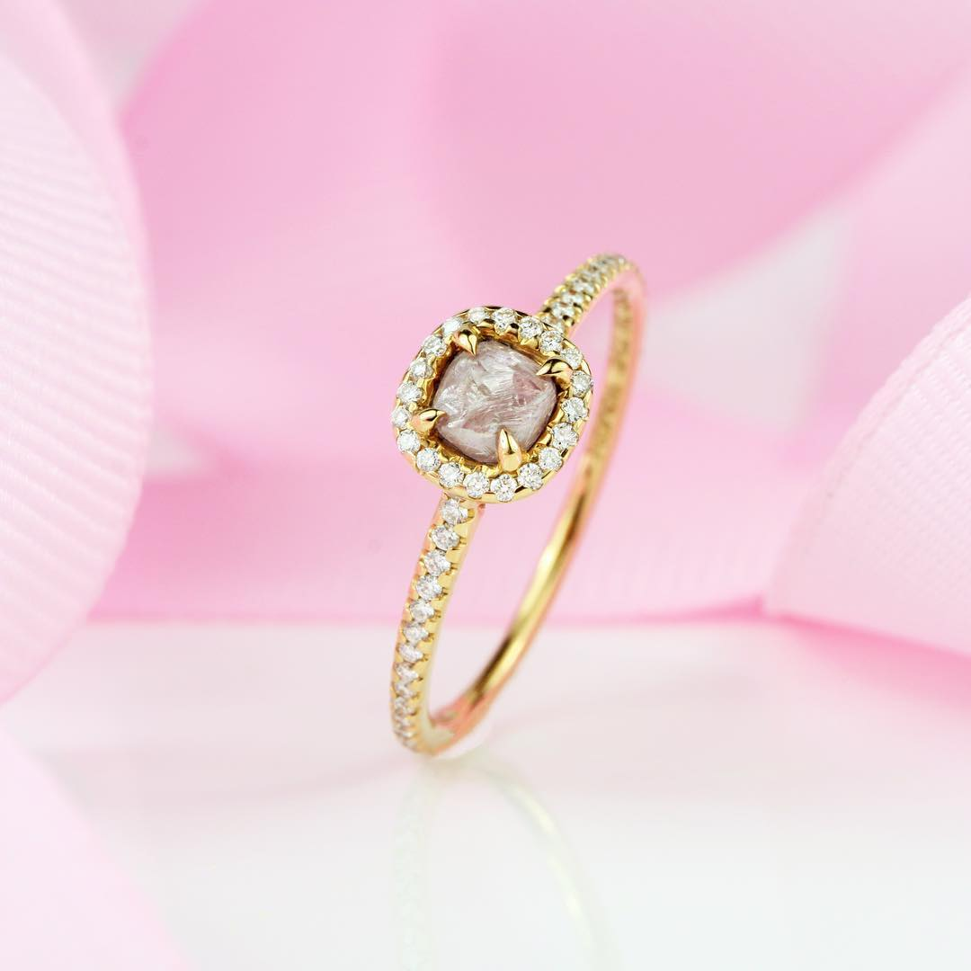 26+ Pink Diamond Engagement Ring Designs, Trends | Design Trends ...