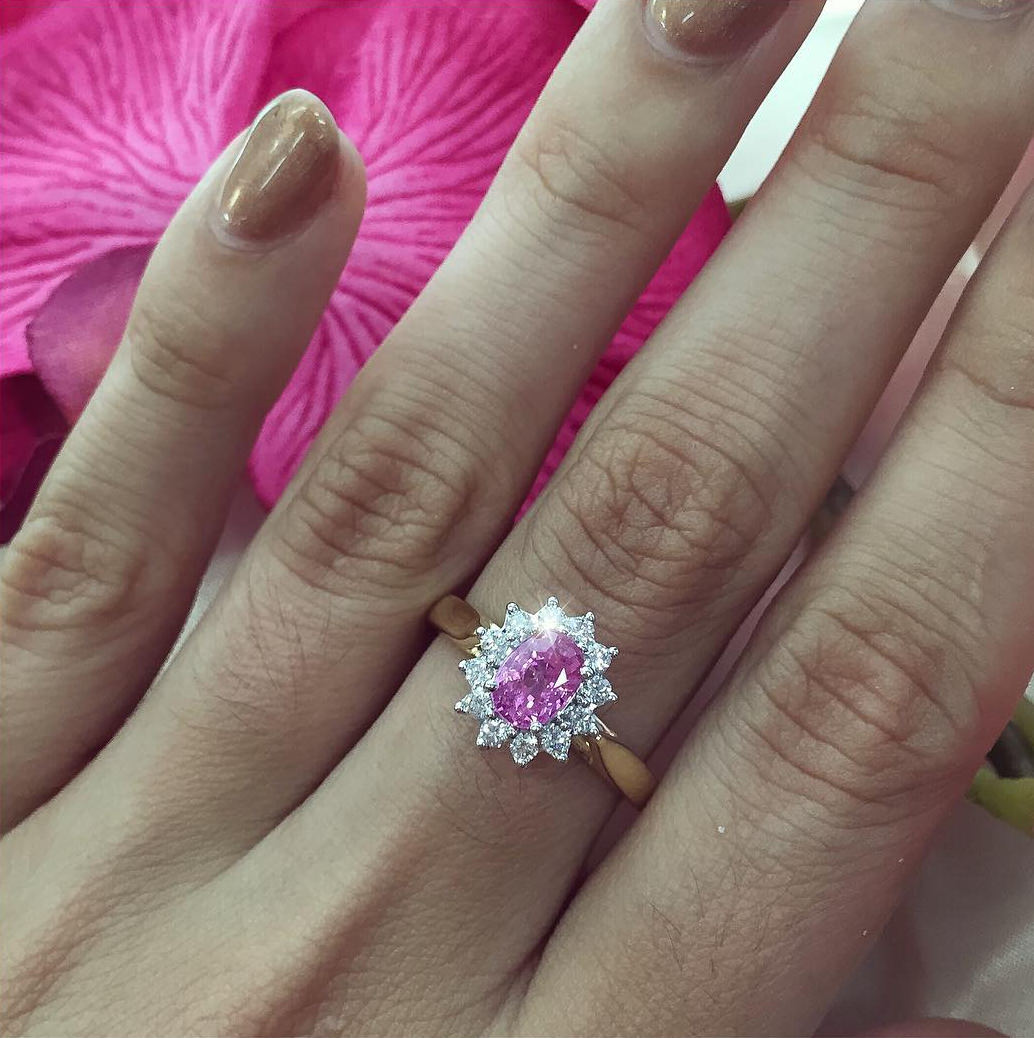 Floral Engagement Ring.