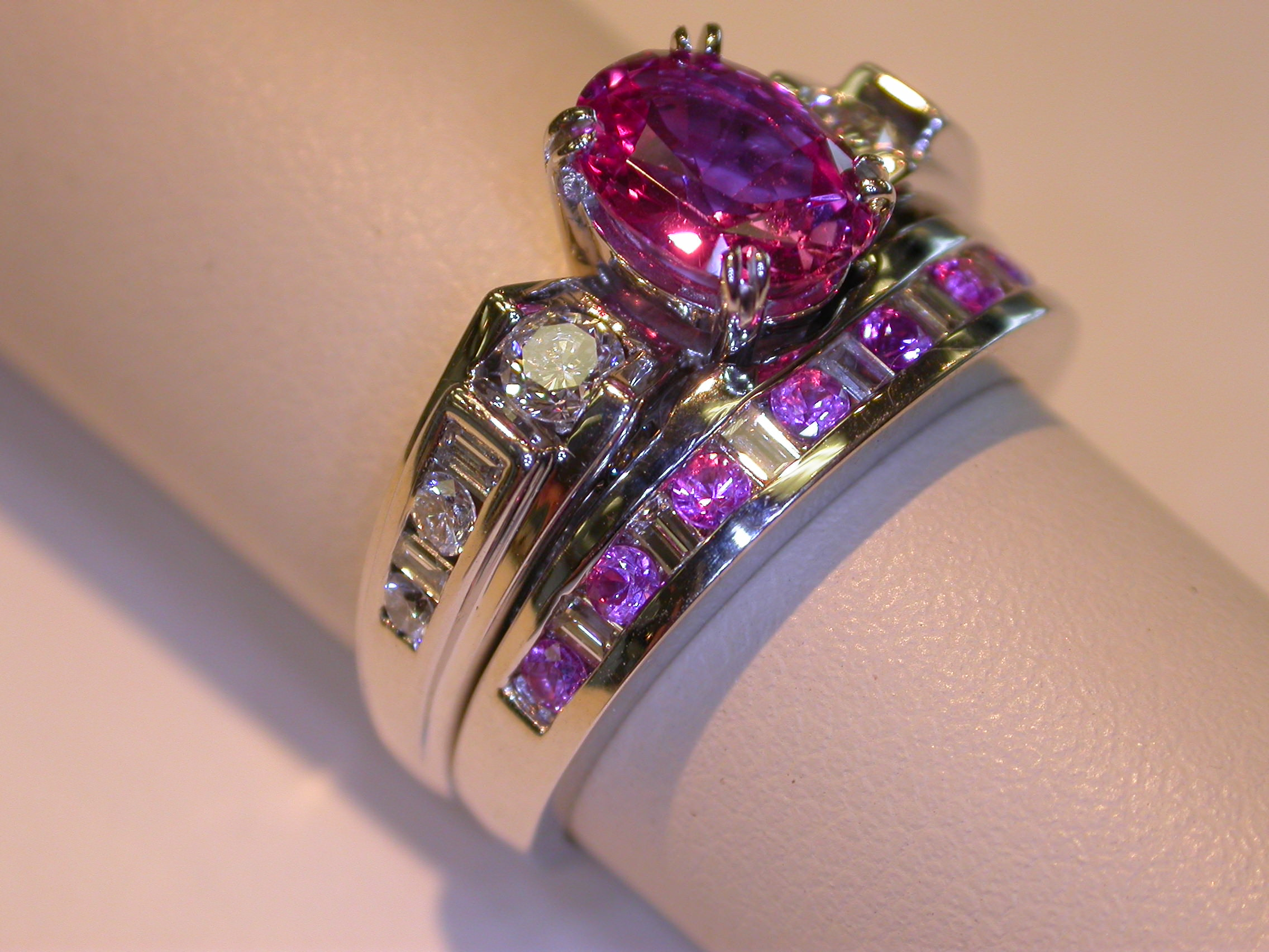 Pink Vintage Sapphire Ring.