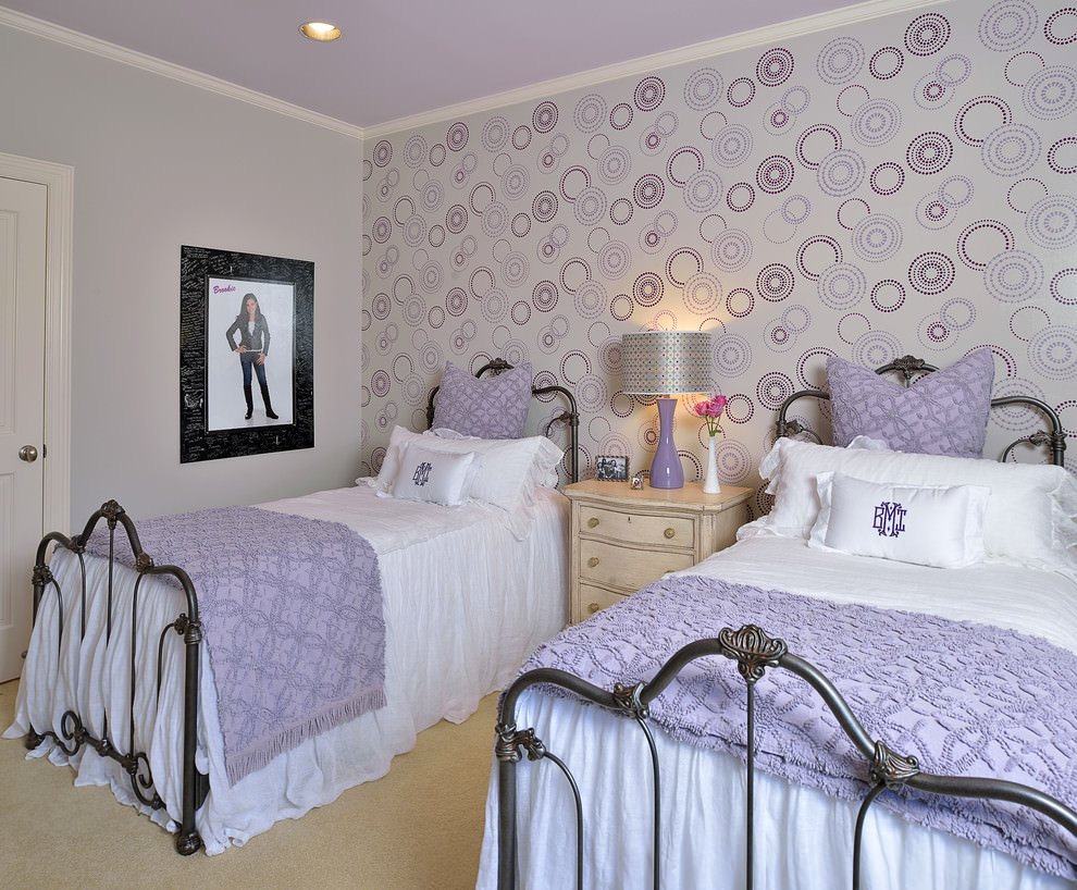 27 purple childs room designs kids room designs for Twin girls bedroom ideas