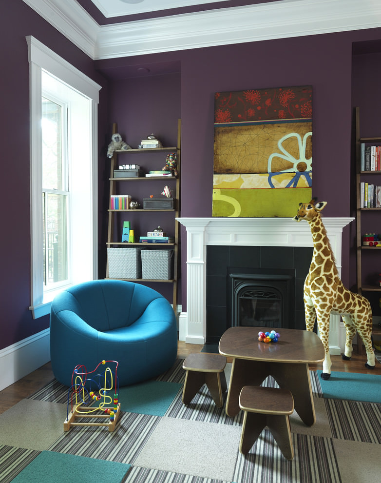 Dark Purple Play Room Design