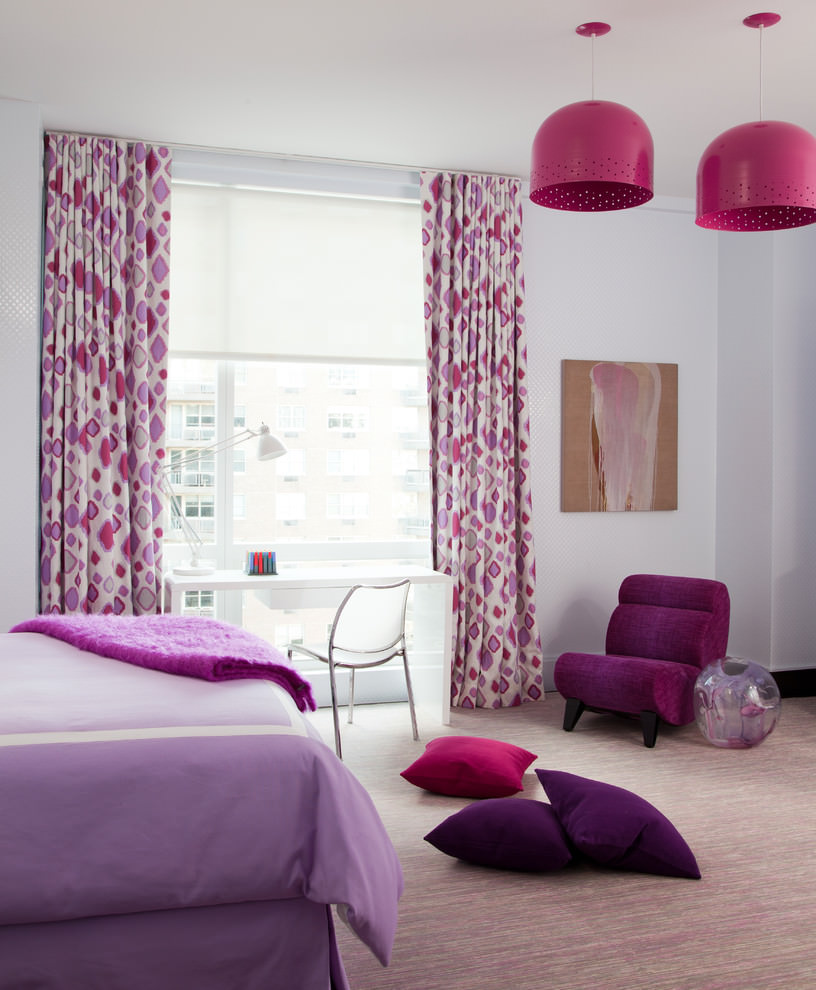 Decorative Pink and Purple Room