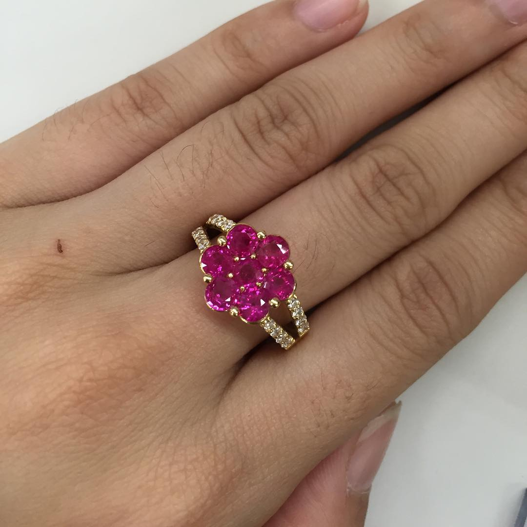 Flower shaped Pink Diamond.