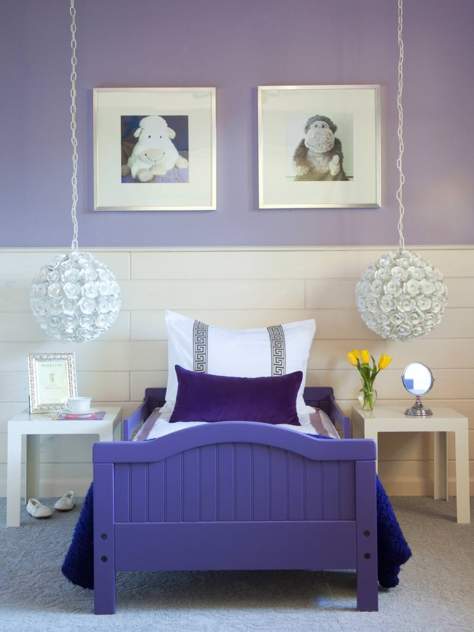 Stylish Purple Kids Bedroom
