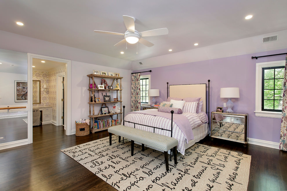 Comfy Soft Purple Kids Room