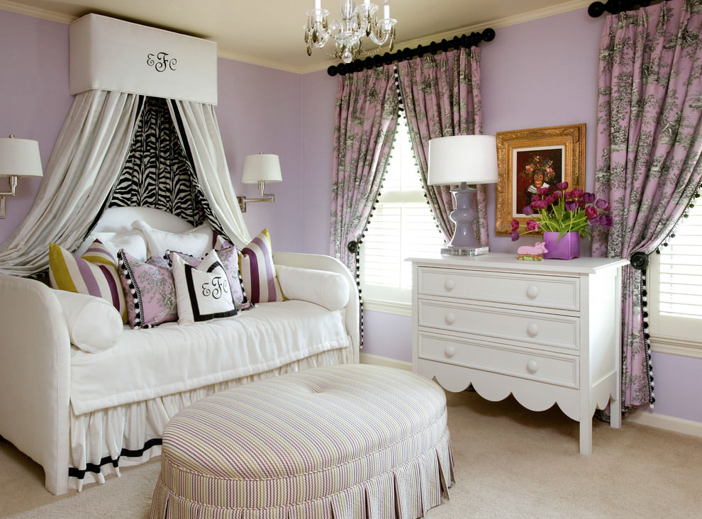 Luxirious Purple Kids Bedroom Design