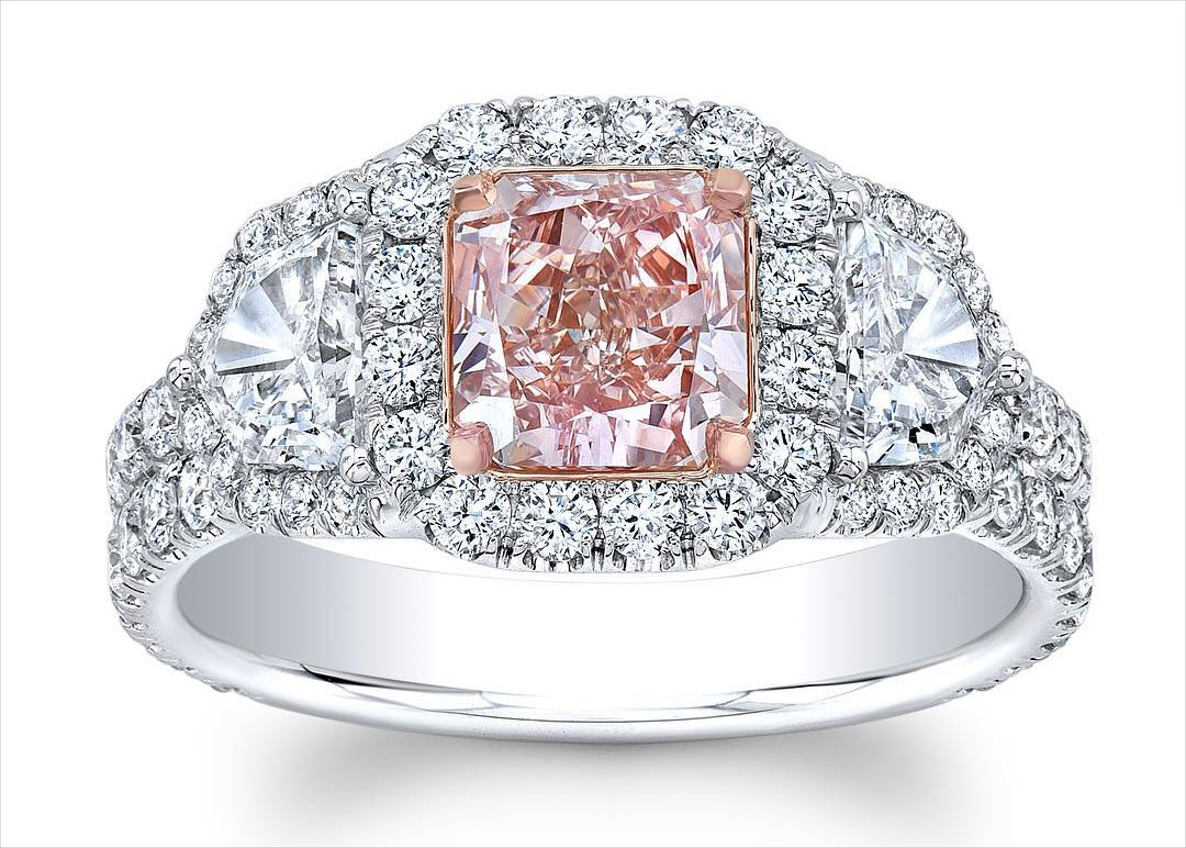 Light Pink Diamond Ring