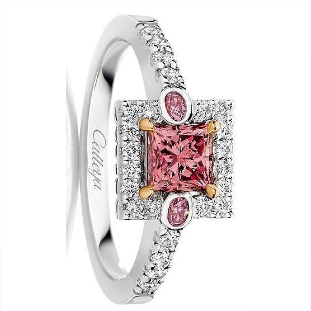 Cartier Pink Engagement Ring.