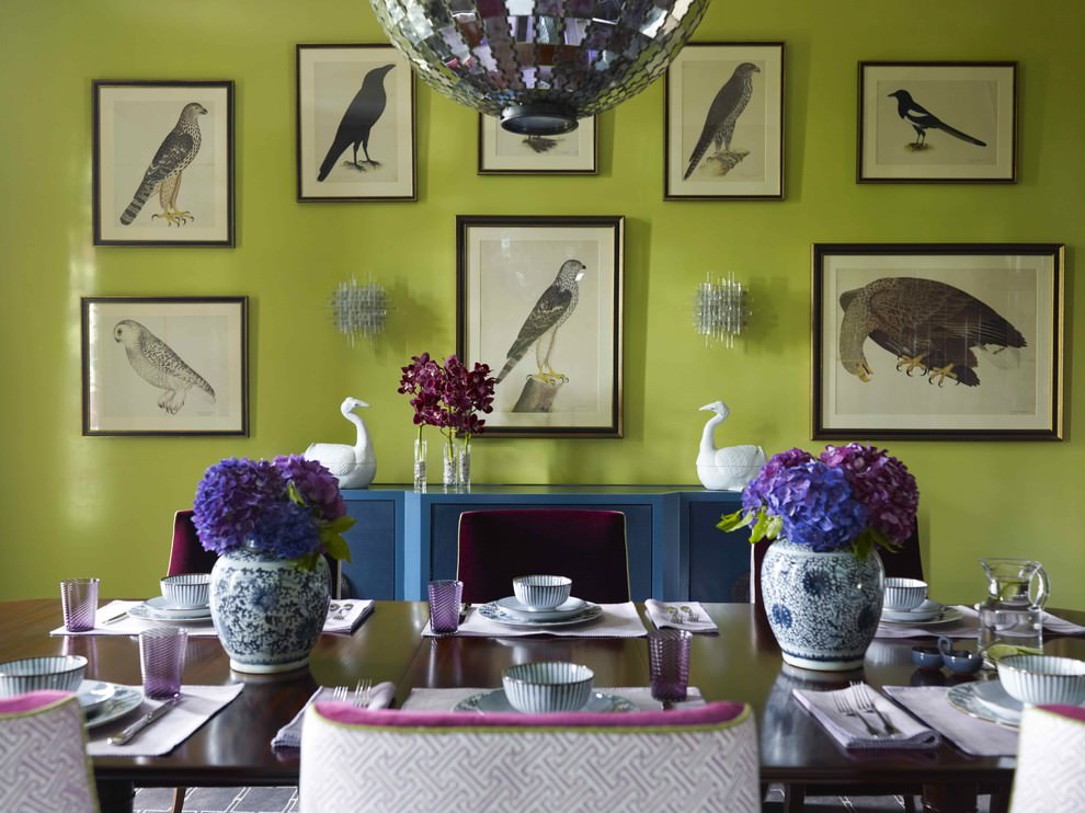 Dining Room Green Wall Painting
