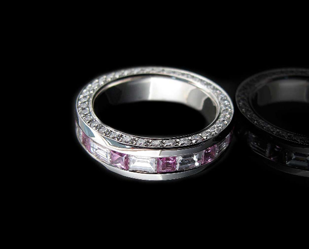 Eternity Pink Diamond Ring