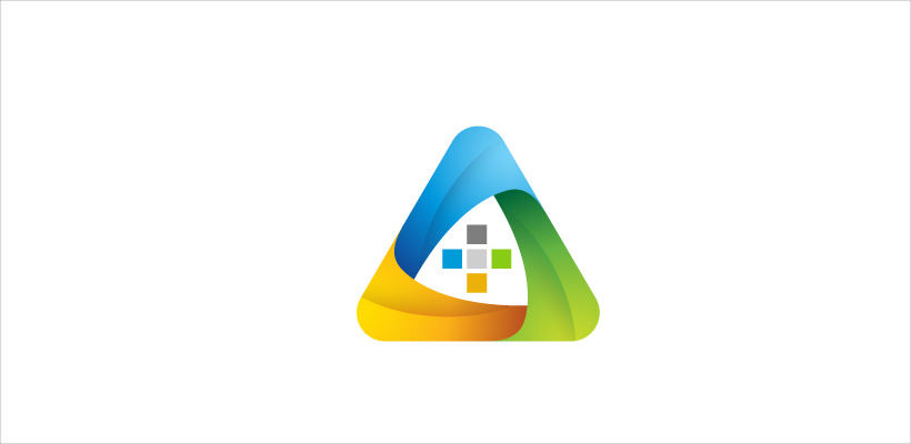 Colourful Triangle Logo