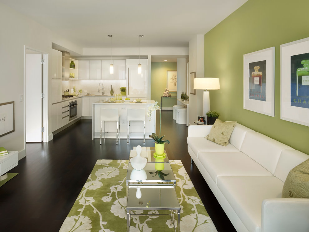 Classy Green Wall Design