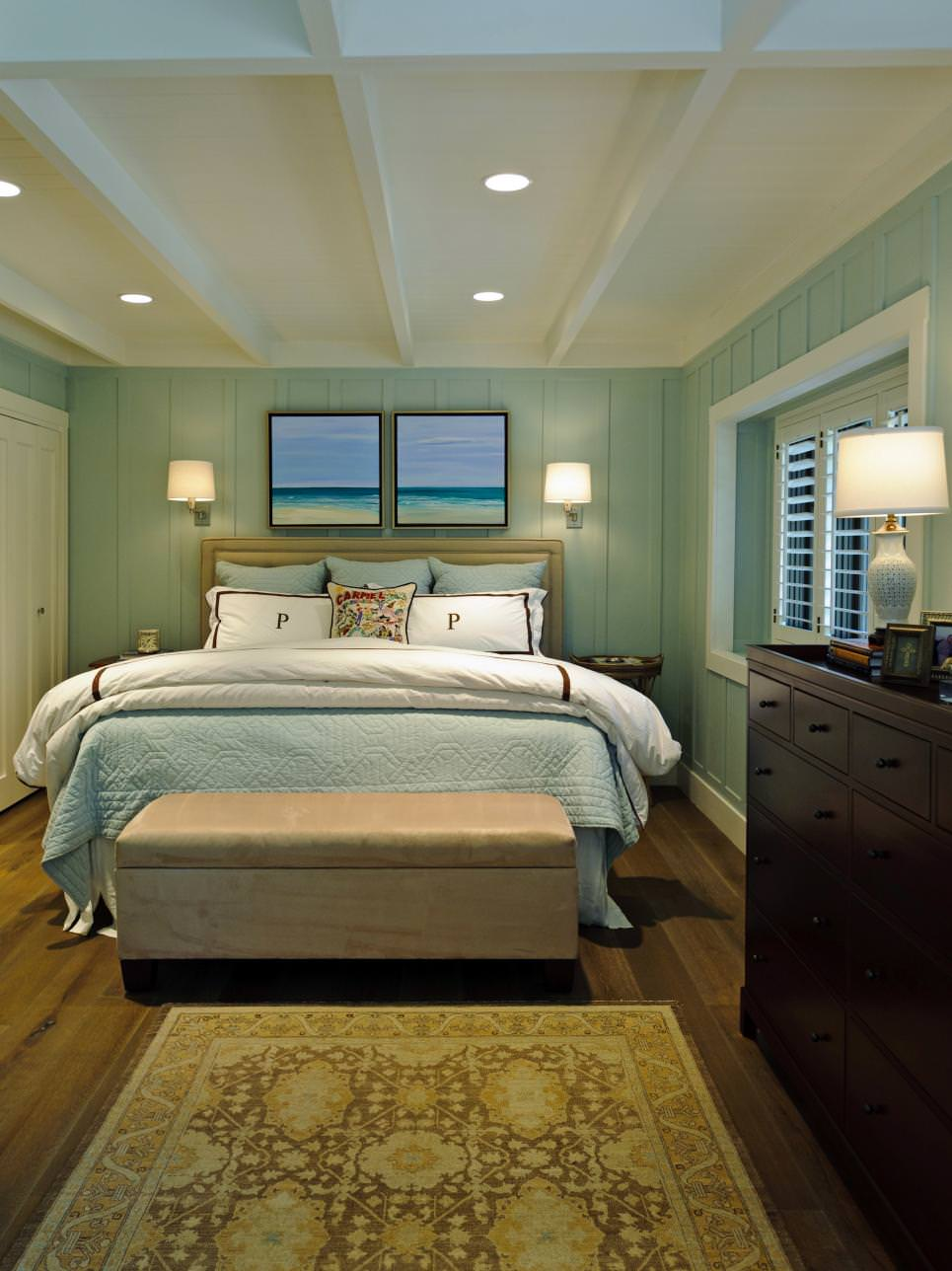 sea green wall bedroom ideas