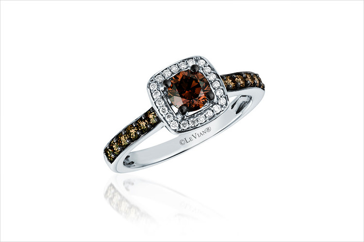 levian chocolate diamond ring