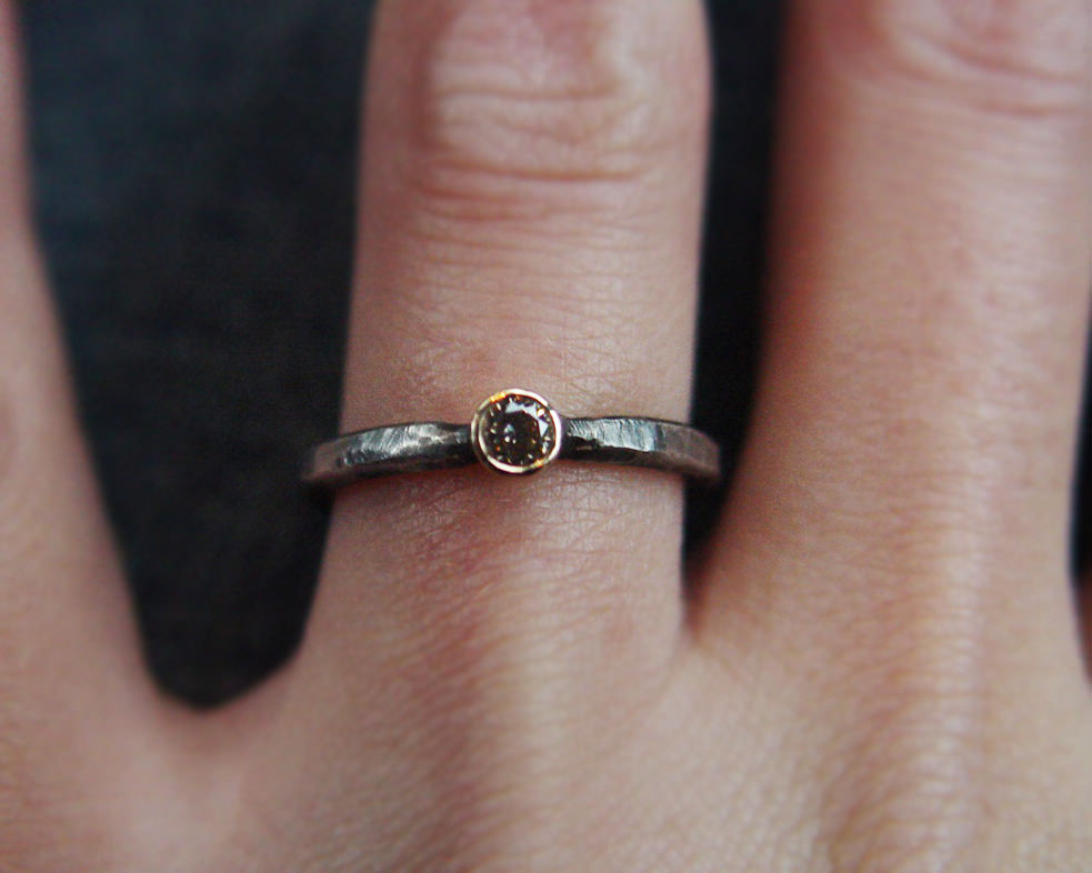 small diamond ring