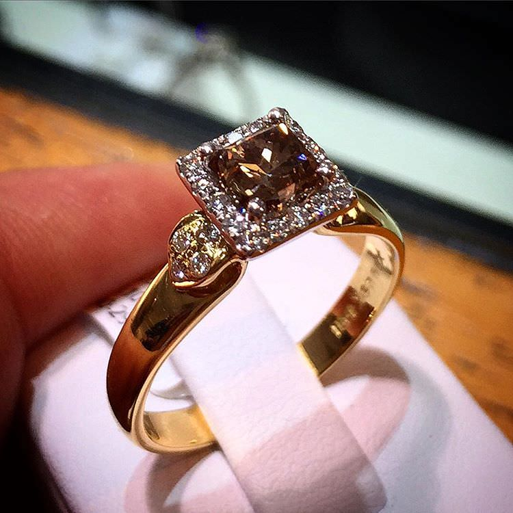 shining diamond ring