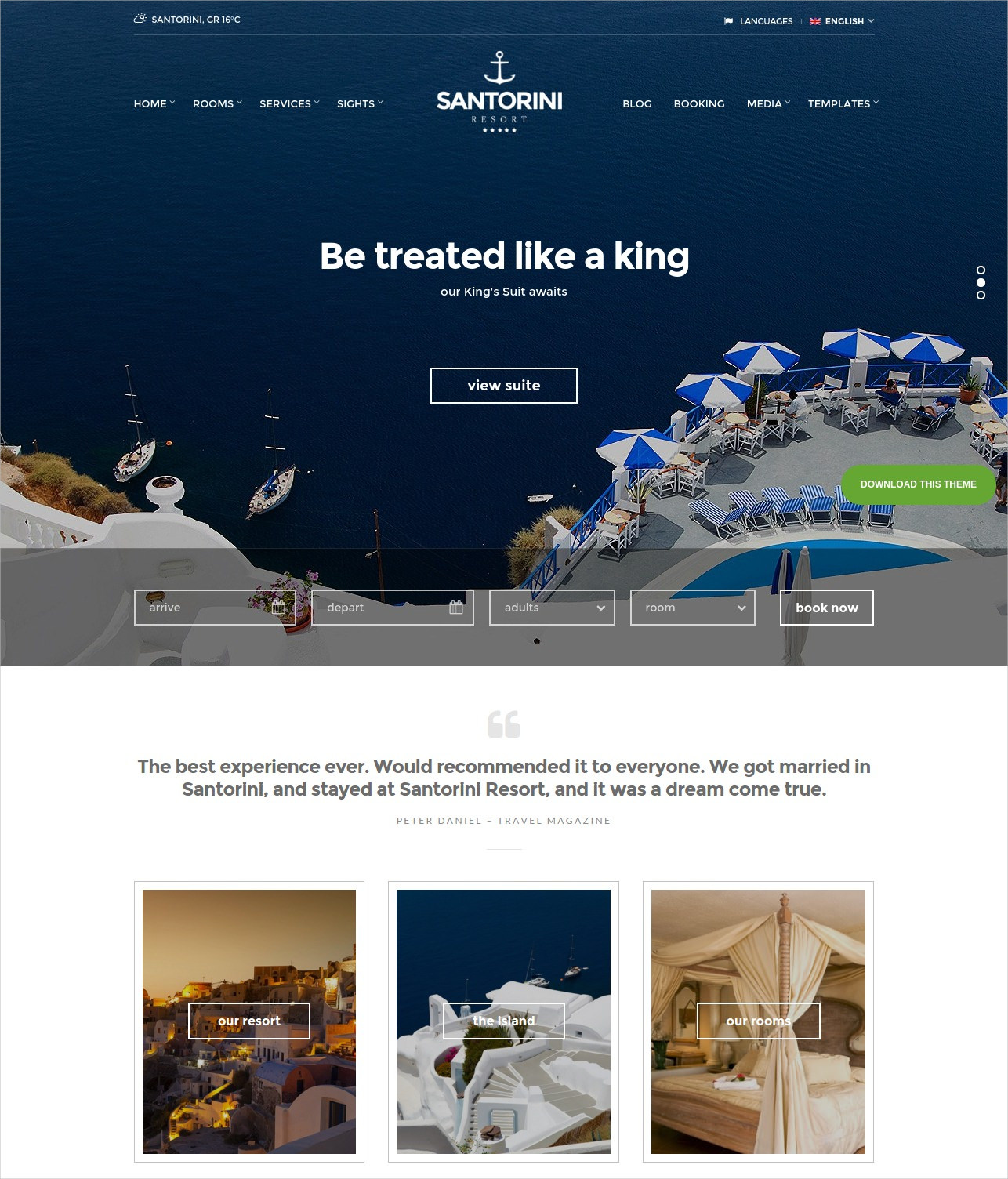 Beautiful Responsive Resort WordPress Theme