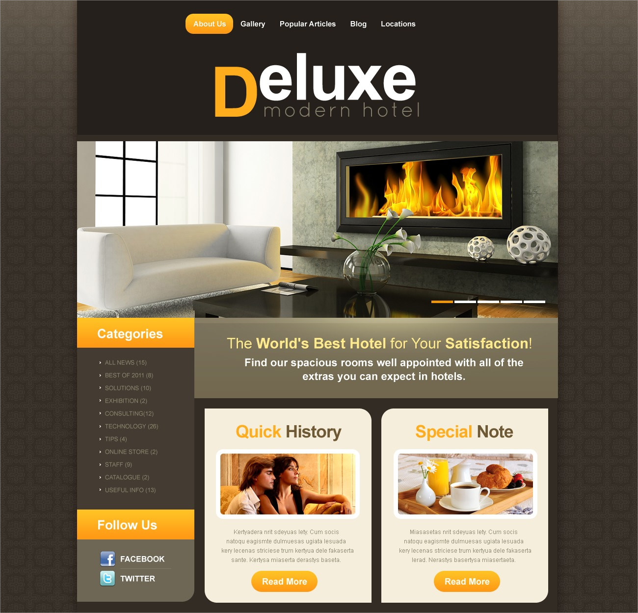 Deluxe Modern Hotel Theme
