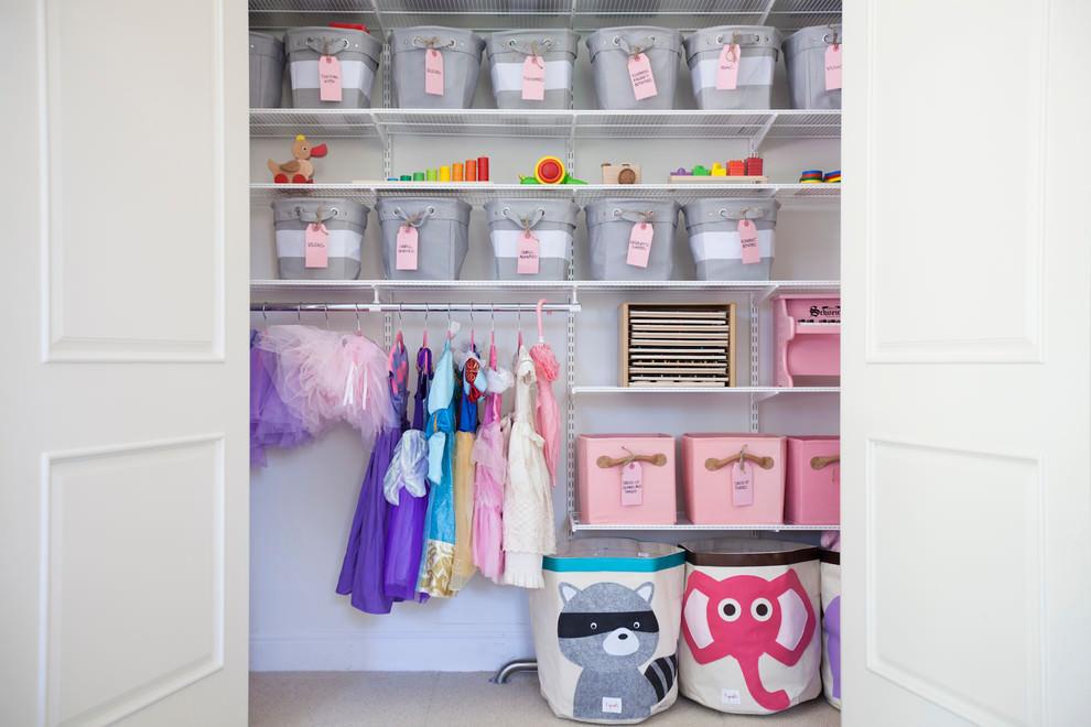 White Storage Unit For Kids