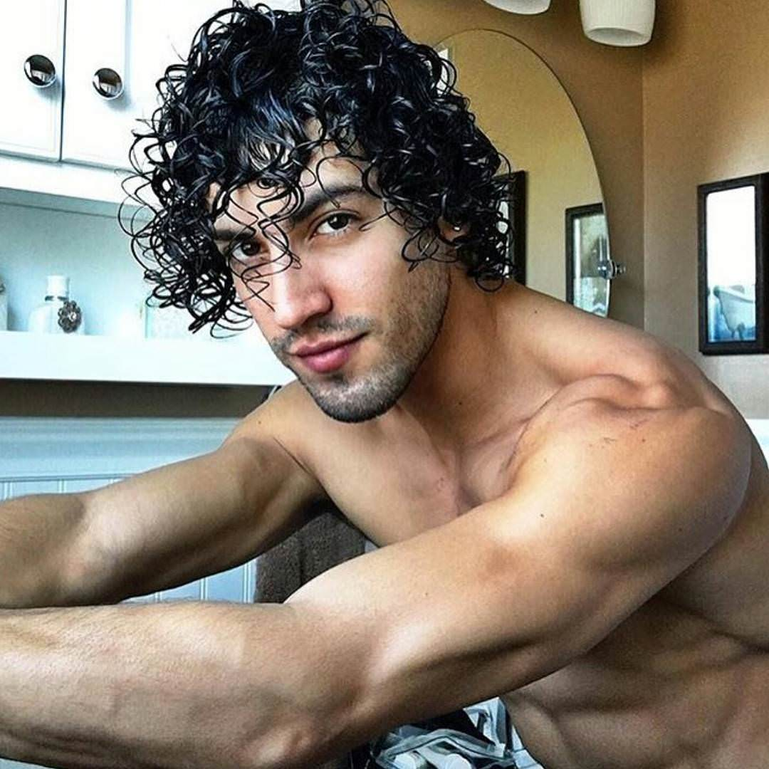 fantastic curls of men
