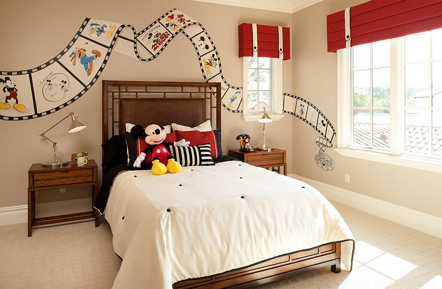 Disney Mickey Mouse Bed Decor. 24  Disney Themed Bedroom Designs  Decorating Ideas   Design Trends