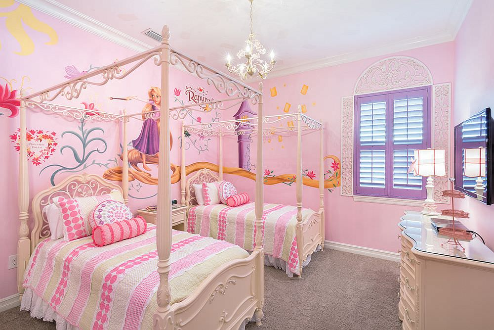24 disney themed bedroom designs decorating ideas for Disney princess bedroom ideas