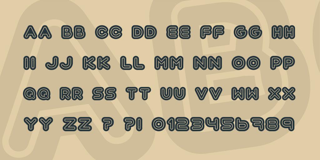 circular lined font