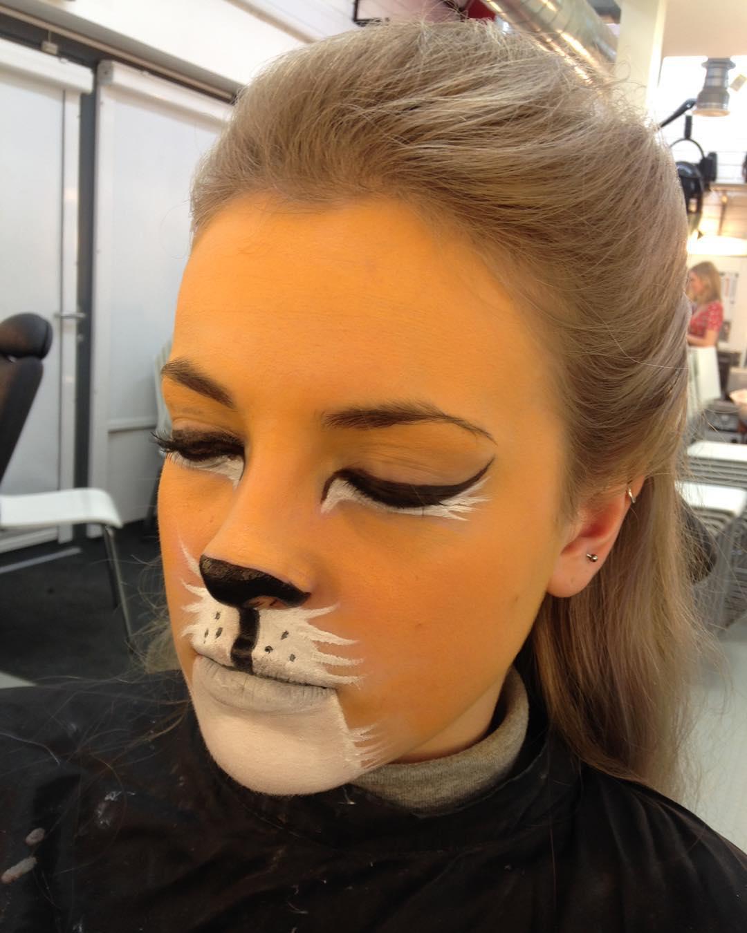 trendy lion makeup
