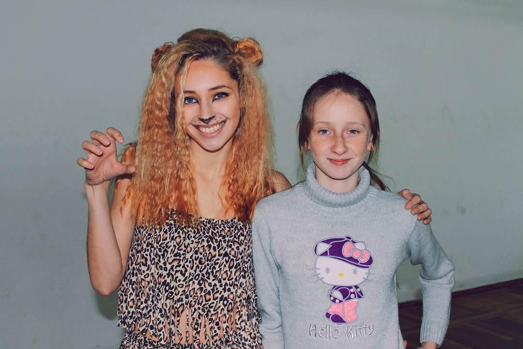 stylish lion makeup girl