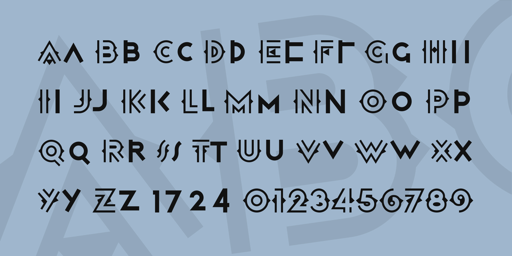 Atrv Deco Inlined Font