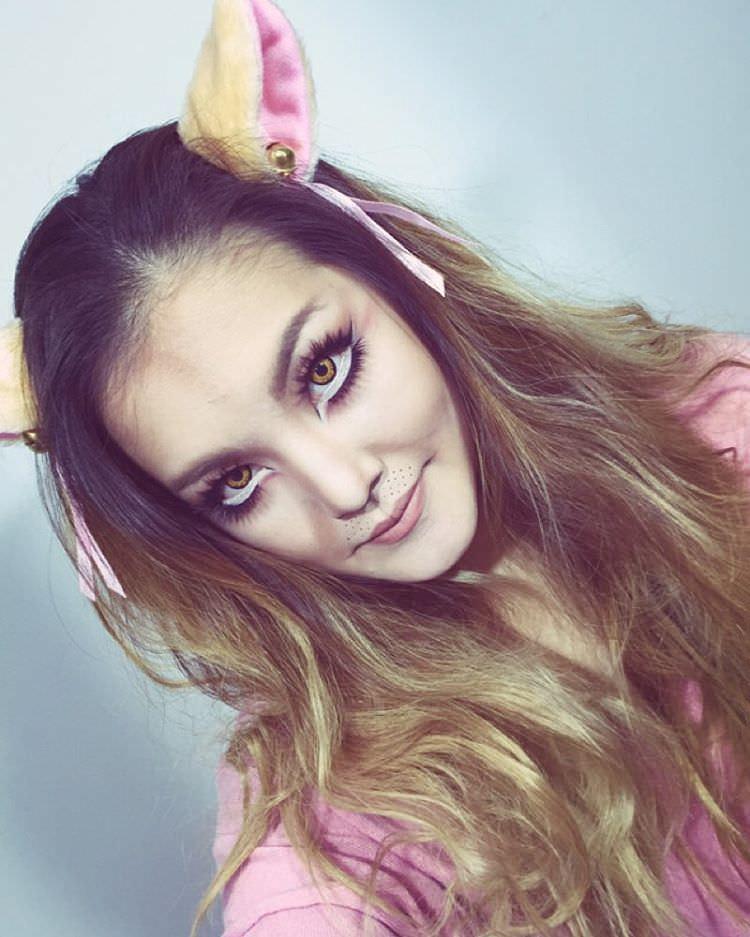 Lion Eye Makeup Girl