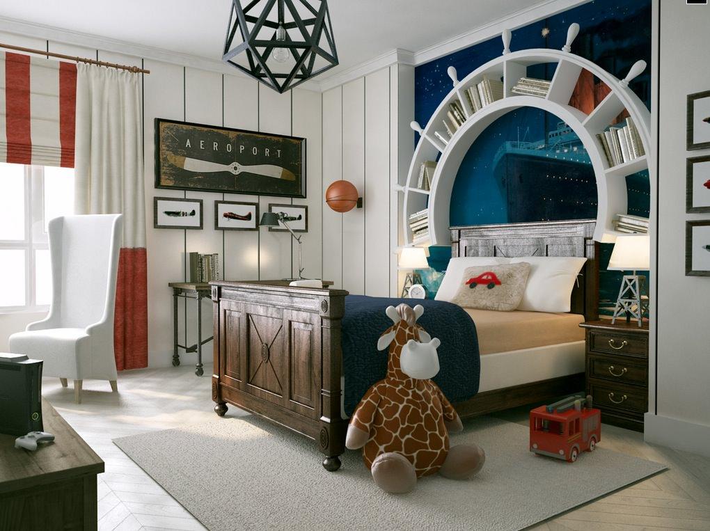 White Striped Kids Room Ideas