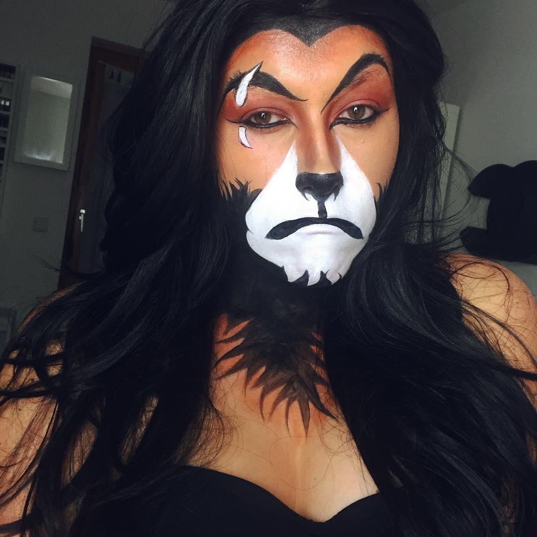 male lion makeup