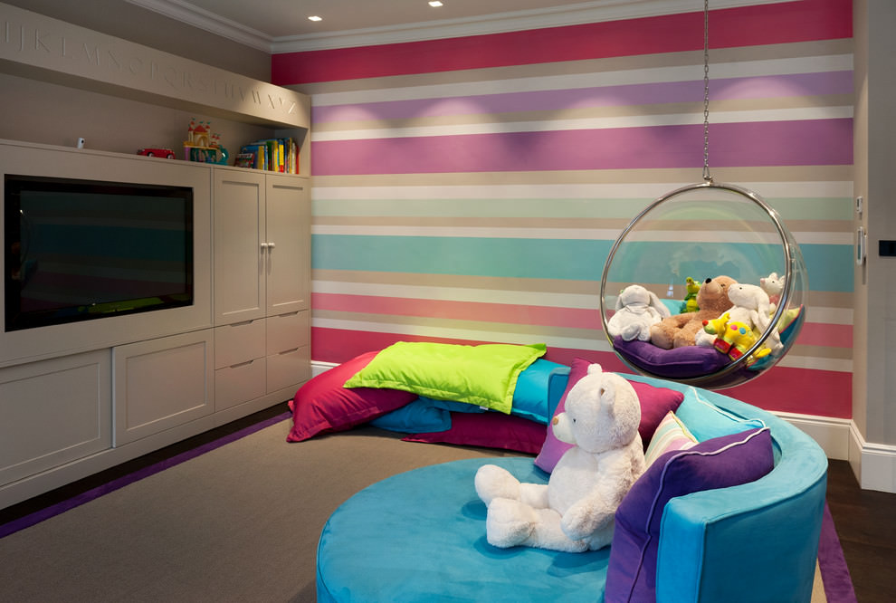 23 child room designs decorating ideas with striped Cute kid room ideas
