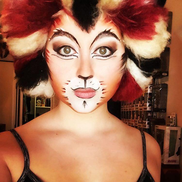 cat face painting makeup