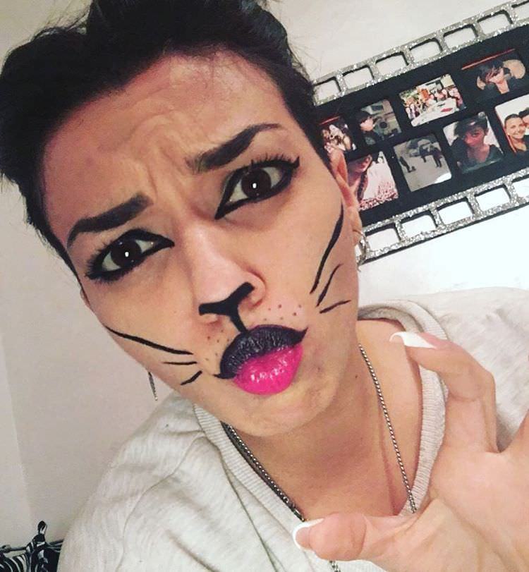 funky makeup of cat