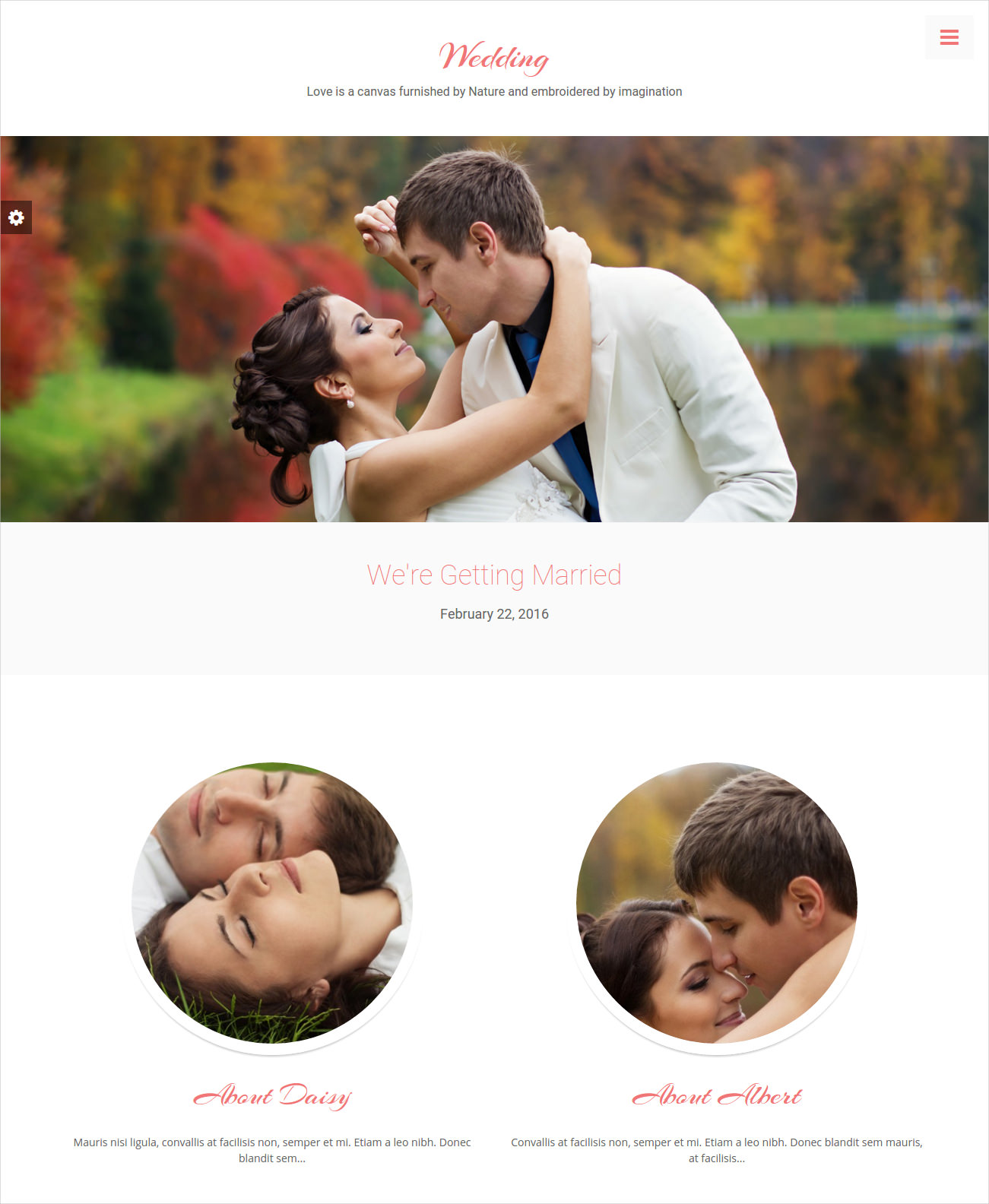 beautiful wedding website theme