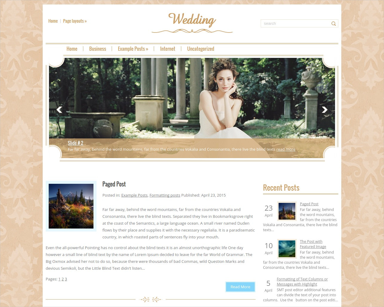 beautiful wordpress wedding theme free