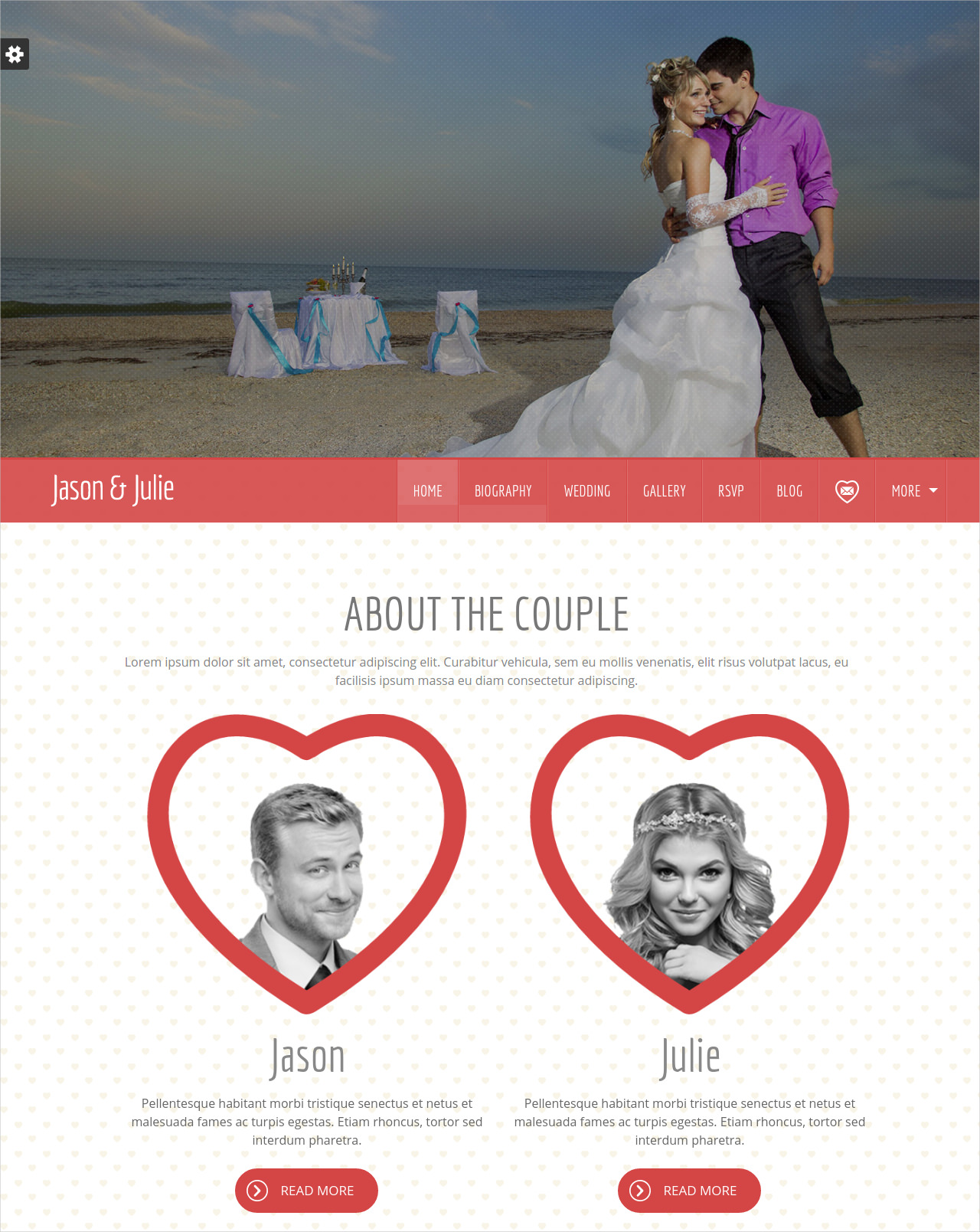 church wedding wp theme