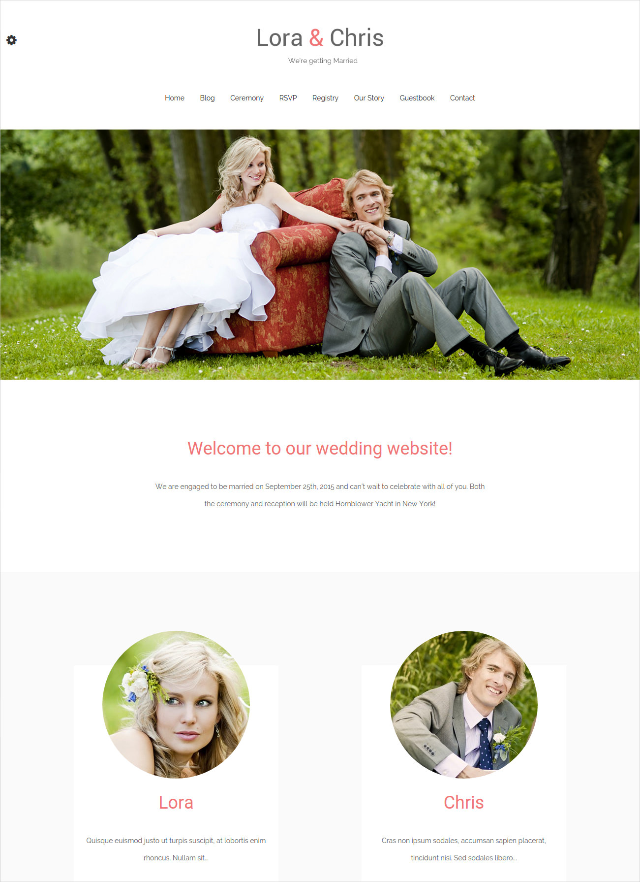 clean wedding wordpress theme