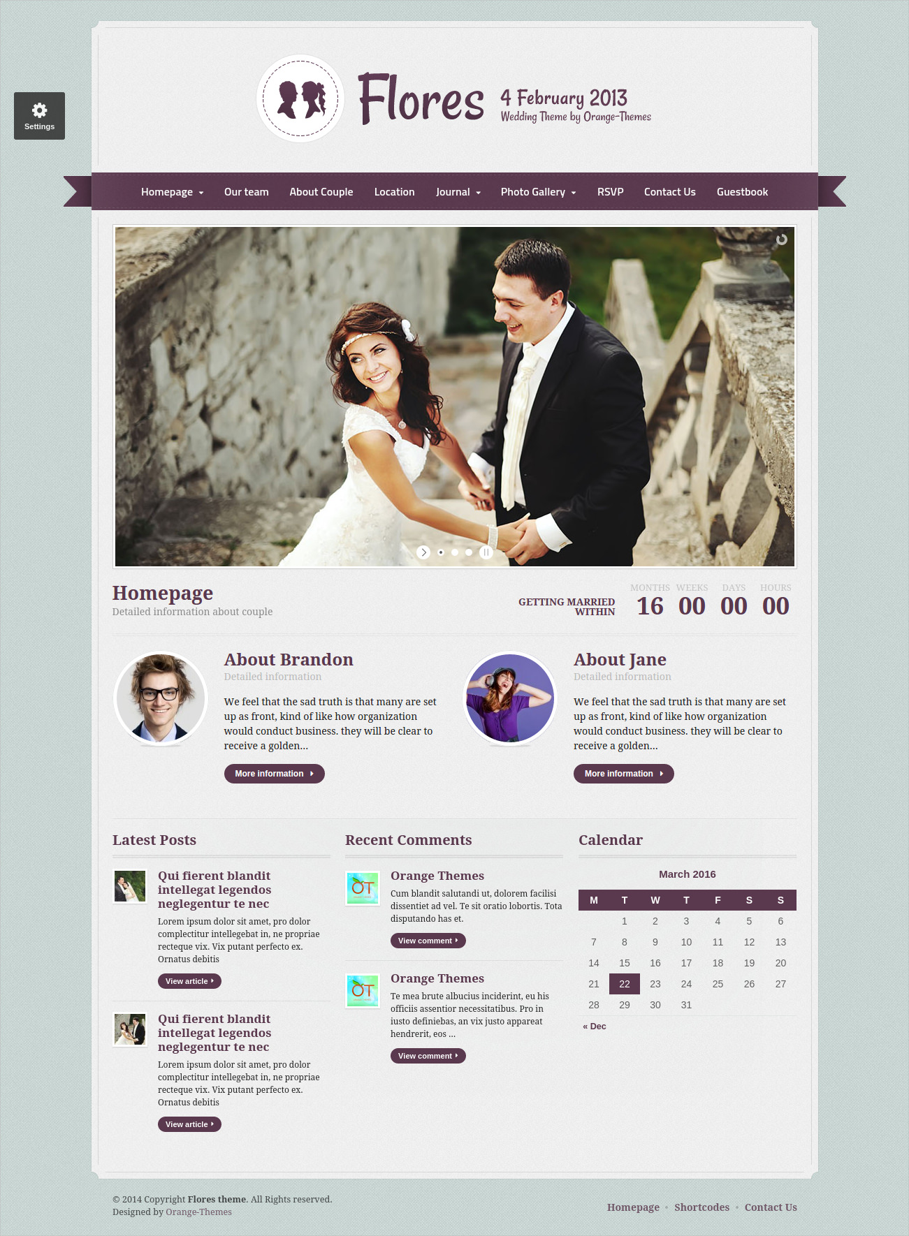 Flores Elegant WP Wedding Theme