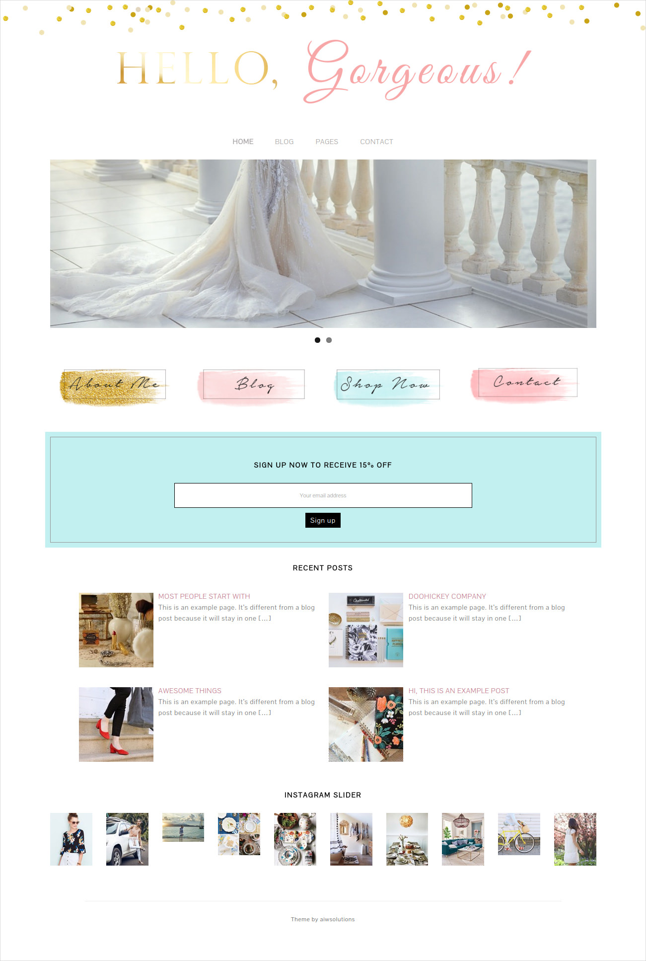 Gorgeous Wedding Website Theme